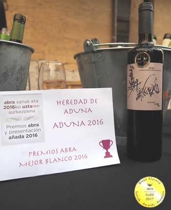 mejor blanco joven de las bodegas de Rioja Alavesa